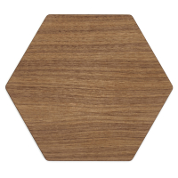 EPICUREAN • Linia Walnut Display Hexagon • deska do krojenia • orzechowy • 33 x 28 cm