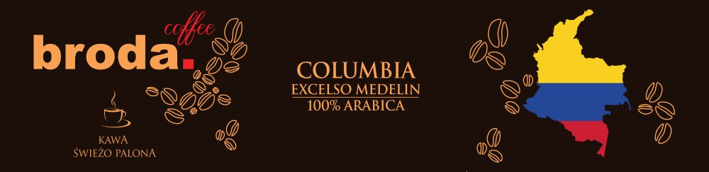 Kawa Świeżo Palona Columbia Excelso Medelin 100% Arabica