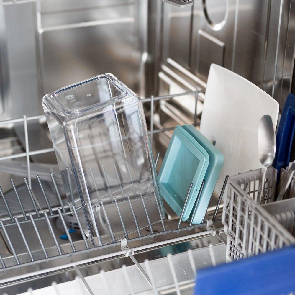zestaw 4 pojemników kuchennych – mycie w zmywarce