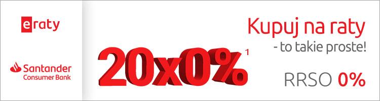 Raty 20x 0%